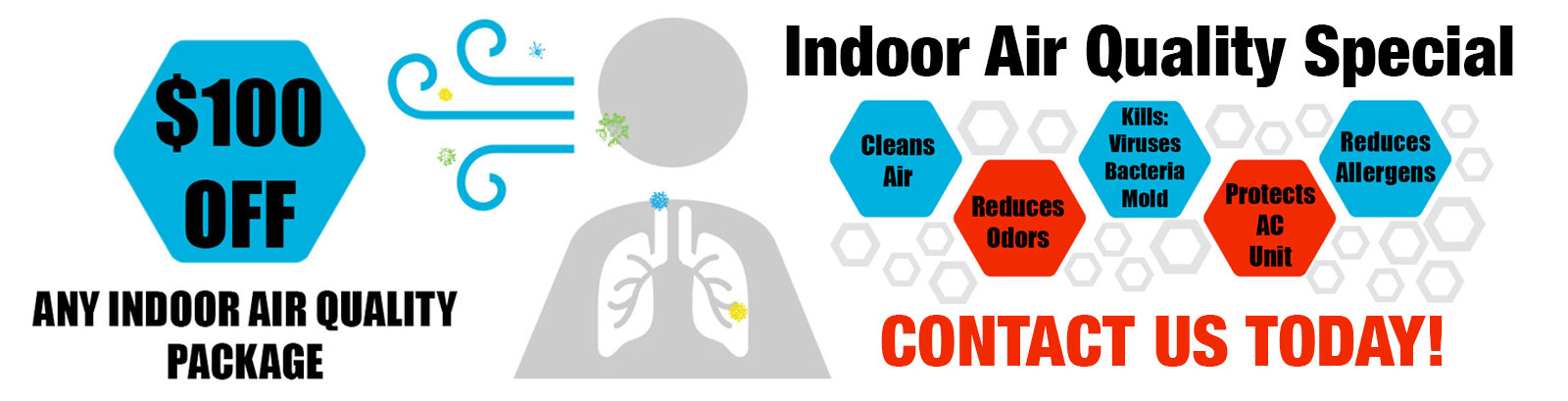 $100 Off Any Indoor Air Quality Package